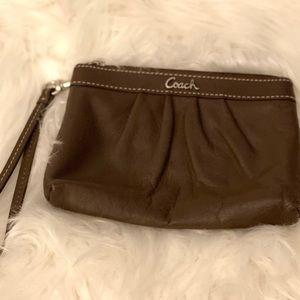 Coach Soft Leather Wristlet